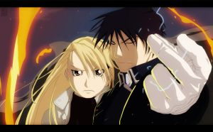 Riza Hawkeye and Roy Mustang by aConst