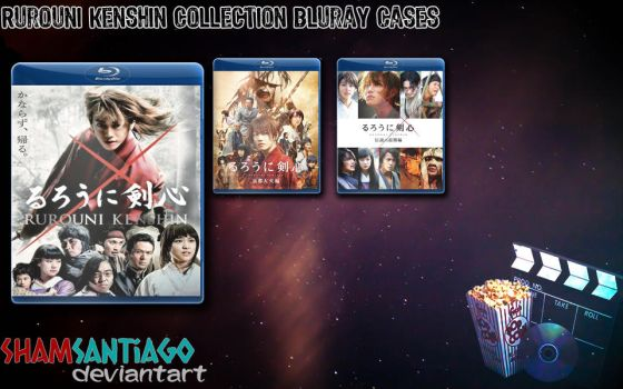Rurouni Kenshin Collection Bluray Cases by ShamSantiago