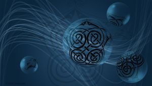 Blue Dog Celtic Knot Wallpaper by Zulma-san