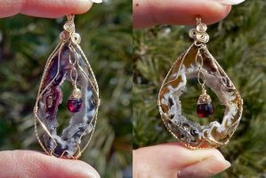 More Magma Pendants by magpie-poet
