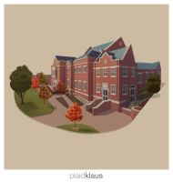 Building Illustration: Roanoke College by plaidklaus