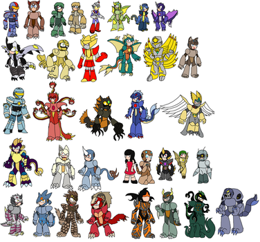 Cm-KRN robot masters 2(well most of them) by YingYangHeart
