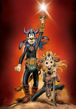 Goofy and Clarabelle Cow (Conan, The Barbarian) by ValFonseca