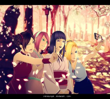 NaruHina Marriage : The girls by MimiSempai