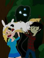 Fionna and Cake - Dark Forest by TheMaskedMystery