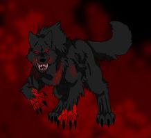 Request - Black Blood Wolf by Firewolf-Anime