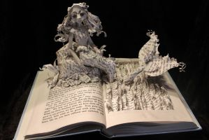 The Little Mermaid Book Sculpture by wetcanvas