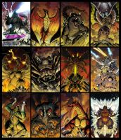 Godzilla Spotlight Covers by KaijuSamurai