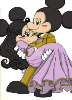 Mickey and Minnie Mouse: Together Forever by CrystalArtest