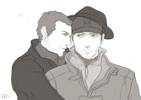 aiden pearce by reincao