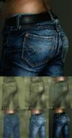 How I paint Denim by SteveDelamare