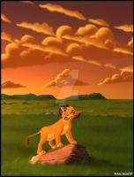 Simba Into The Serengeti by Archon89