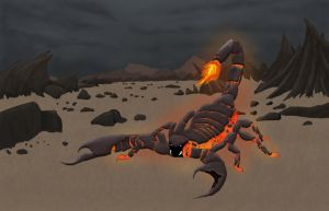 Lava Scorpion - Fire Colossus by aamaji