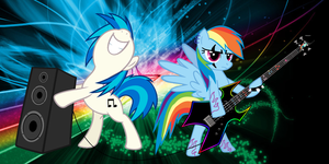 Rainbow Dash and DJ Pon3 by BlackfeetSinopaa