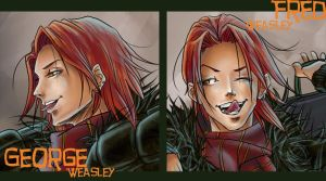 Weasley Twins- Closeup Version by The-Gwyllion