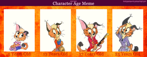 Character Age Meme: Flare. by SonicRainboomZ