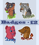Badge Commissions OPEN by FelineMyth