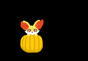 Pumpkin Fennekin by drpepperswife