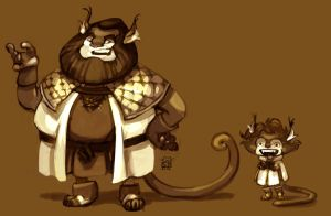 catking and tyke by DawnElaineDarkwood