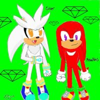 Knuckles And Silver Collab w/ TimelyClassicStudios by ifreakinglovegames