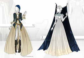 (CLOSED) Adoptable Outfit Auction 18 - 19 by Risoluce