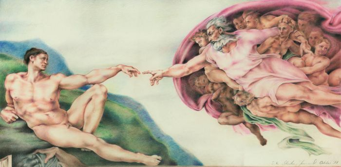 Study of The Creation of Adam (Coloured Pencils) by jeremiasch
