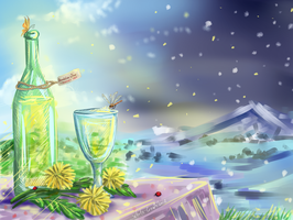 Dandelion wine by whitecrow-soul