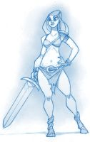 Barbarian Woman by KingOlie