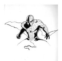 Spider-Man inked by YTheJoshuaTreeY