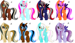 Wet-Maned Mare Adopts #2 ~ 10 Points Each ~ *OPEN* by Adopting-Angels