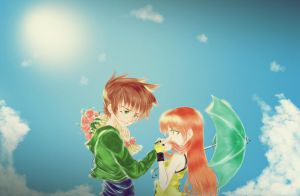 Green y Sunny love by AprilSweet