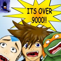 OVER 9000 by Emptygoldeyes