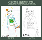 Draw this again Meme by teeheelolhaha