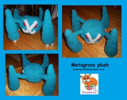 Metagross Plush by Sasophie