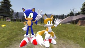 Sonic and Tails by Pho3nixSFM