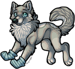 :.Socken The Wolfyote.: by Squidacious