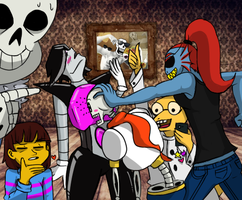 Undertale Draw the Squad Meme Chest lovin' by KarmaBanshee