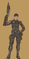 femshep sketch N7 engineer by podbots