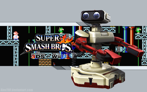 R.O.B. Wallpaper - Super Smash Bros. Wii U/3DS by AlexTHF