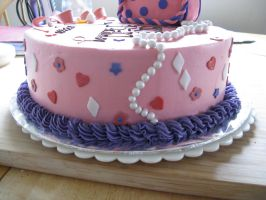 Pink Girly cake-side view by Sumrlove