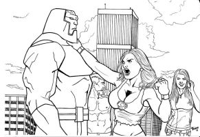 Supergirl vs Darkseid. by Troianocomics