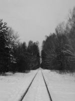 winter railway by mrija