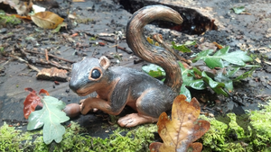 Juvenile Fox Squirrel Sculpture by dipnoi