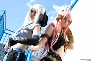 Yowane Haku and Megurine Luka by Ludestru