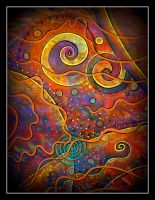 oldpaintingrevisited abstract spiral by santosam81