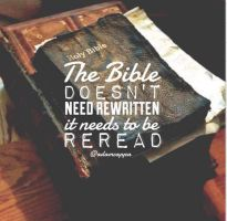reread your bible! by HDLMatchette