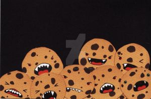Jar of Cookie Monsters by captain-farand