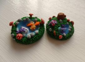 Tiny dragon miniatures by Stefimoose