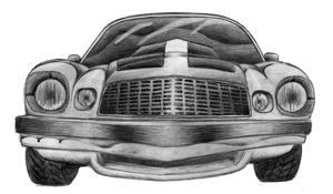 76 Camaro in pencil by NeoZeroX