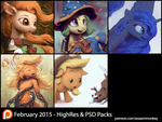 February Patron Packs - HighRes and PSD by AssasinMonkey